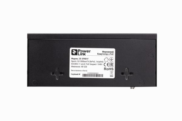 Комутатор 2E PowerLink SP801F 9xFE (8xFE PoE, 1xFE Uplink, 104W), некерований