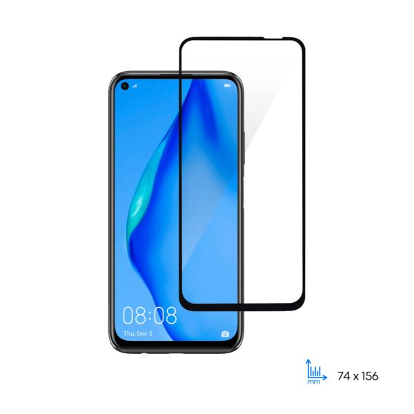 Захисне скло 2E Basic для Huawei P40 lite, 2.5D FCFG, black border