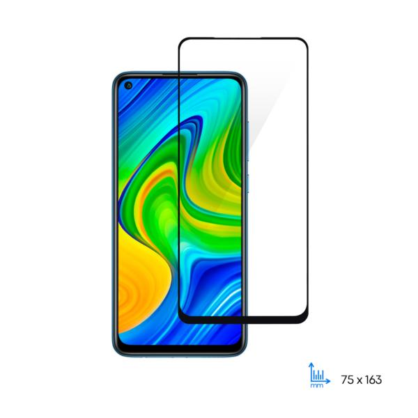 Захисне скло 2E Basic для Xiaomi Redmi Note 9, 2.5D FCFG, black border