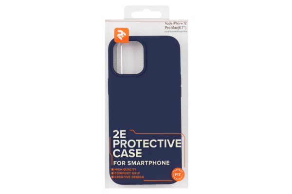 Чохол 2Е для Apple iPhone 12 Pro Max (6.7″), Liquid Silicone, Midnight Blue