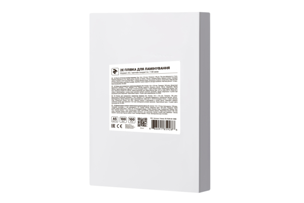 Плівка для ламінування 2E A5, матова поверхня, 100 мкм, 100 шт