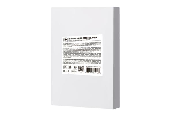 Плівка для ламінування 2E A5, матова поверхня, 80 мкм, 100 шт
