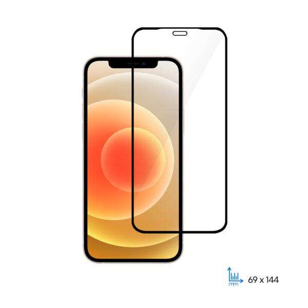 Комплект 2 в 1 захисне скло 2E для Apple iPhone 12/12 Pro, 2.5D FCFG, black border