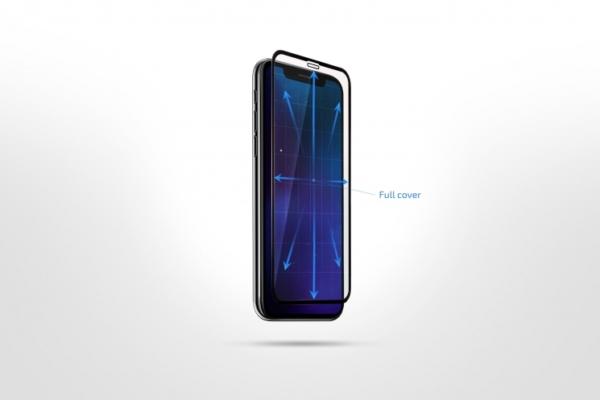 Захисне скло 2E Basic для Samsung A41(A415F), 2.5D FCFG, black border