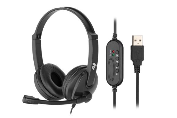Гарнітура для ПК 2E CH12 USB Black