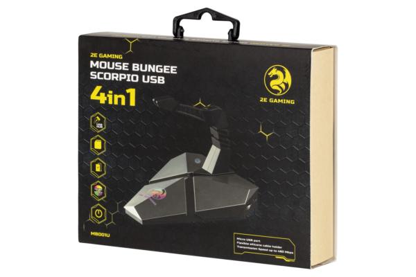 Тримач для кабеля 4в1 2E Gamіng Mouse Bungee Scorpio USB Silver