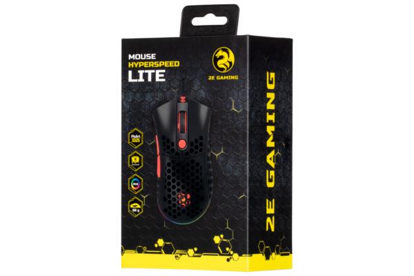 Миша ігрова 2E Gaming HyperSpeed Lite, Black