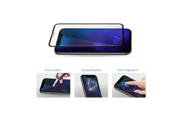 Захисне скло 2E для Apple iPhone 12/12Pro, 2.5D FCFG, black border