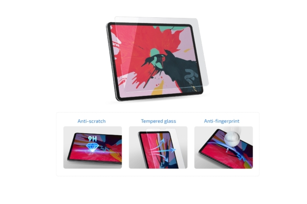 Захисне скло 2E for Apple iPad Air 10.9″ (2020), 2.5D, Clear