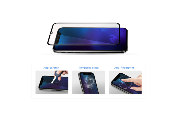 Захисне скло 2E для Apple Iphone 12 Pro Max, 2.5D FCFG, black border