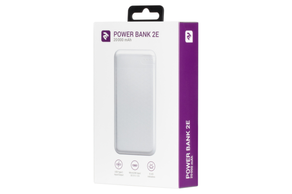 Power Bank 2Е 20000 мАг White