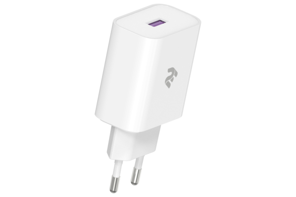 Мережевий ЗП 2Е Wall Charger USB-A QC3.0 3A, Max 18W, White