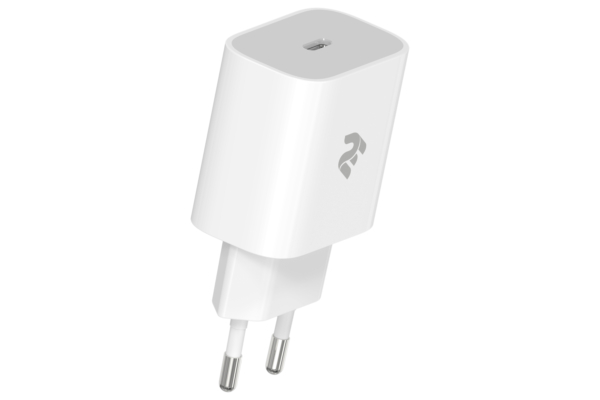 Мережевий ЗП 2Е Wall Charger USB-C PD3.0 3A, Max 20W, White