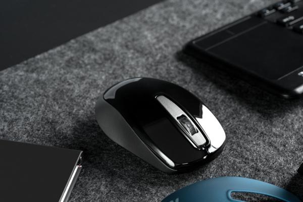 Миша 2Е MF2020 Black Gray and Blue