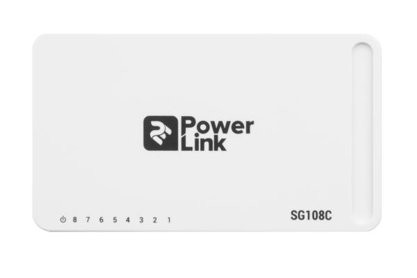 Комутатор 2E PowerLink SG108C 8xGE, некерований